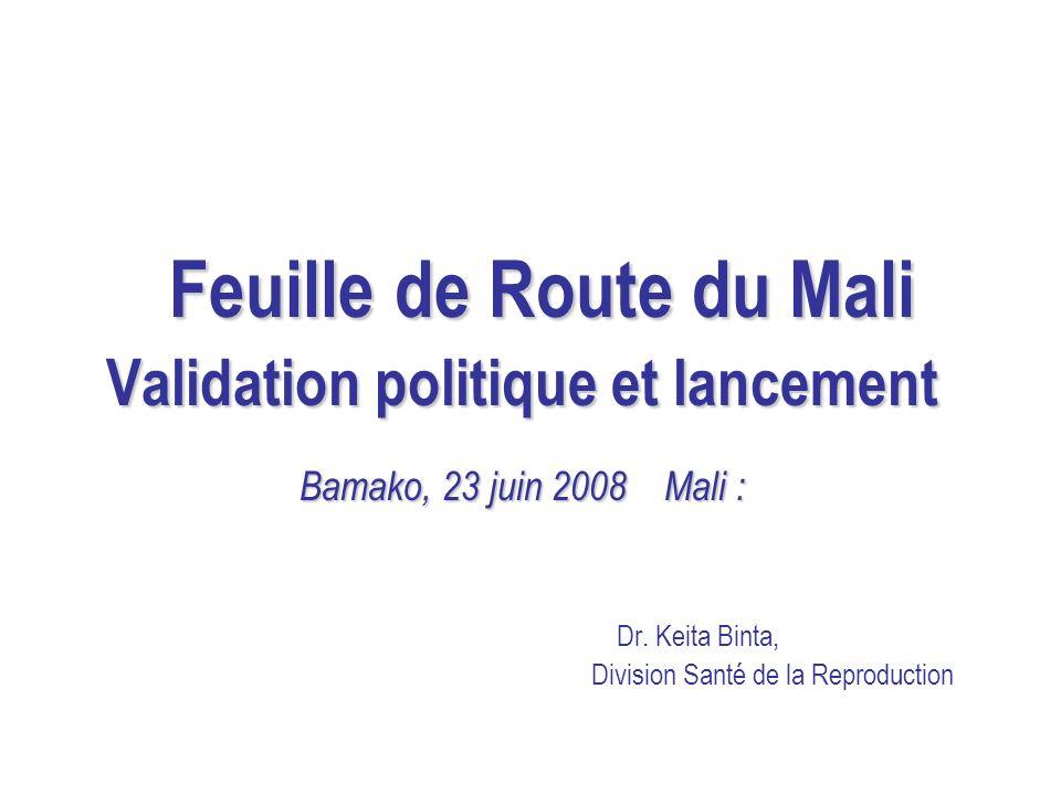 Feuille de Route du Mali Validation politique et lancement