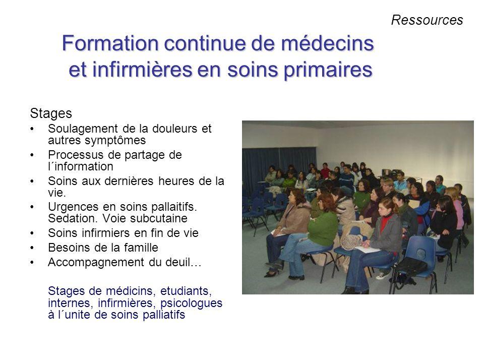 Formation continue de médecins et infirmières en soins primaires
