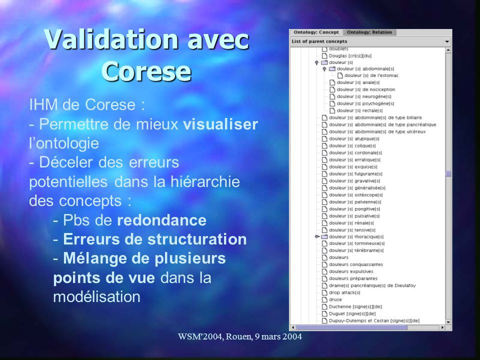 Validation avec Corese