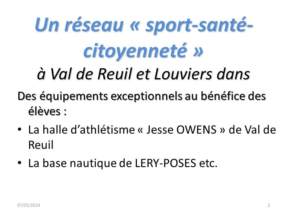 Un réseau « sport-santé-citoyenneté » à Val de Reuil et Louviers dans