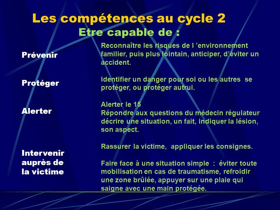 Les compétences au cycle 2 Etre capable de :