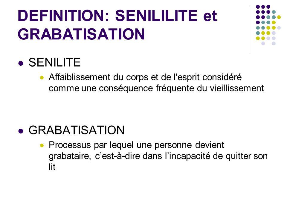 DEFINITION: SENILILITE et GRABATISATION