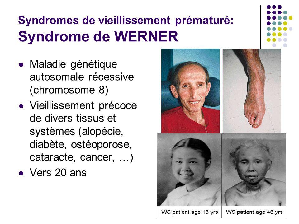 Syndromes de vieillissement prématuré: Syndrome de WERNER