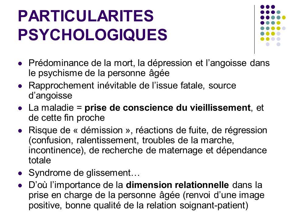 PARTICULARITES PSYCHOLOGIQUES