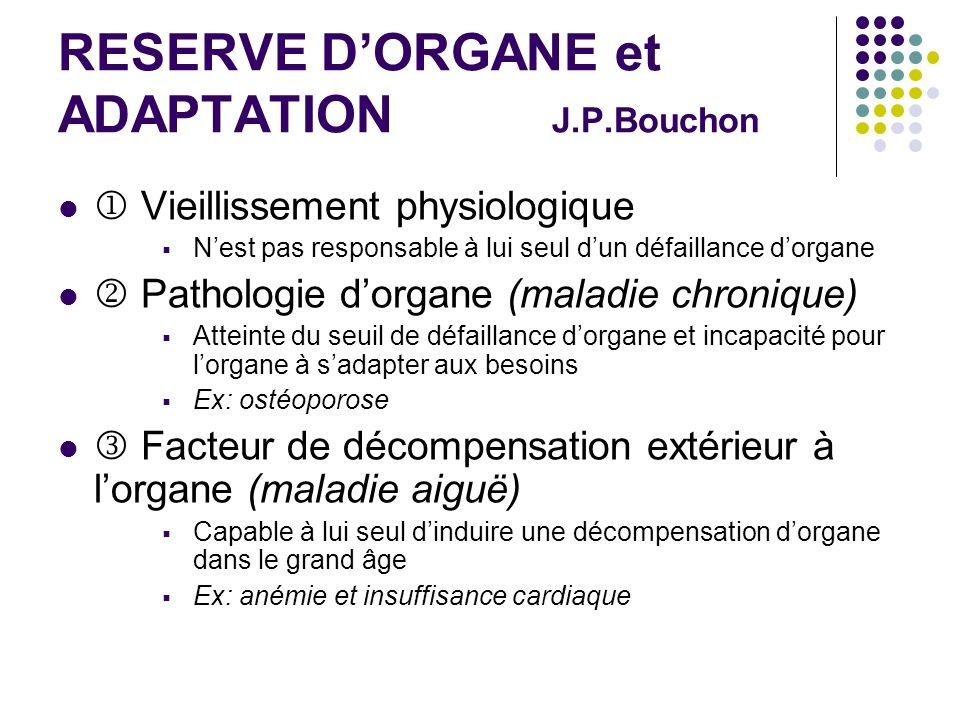 RESERVE D'ORGANE et ADAPTATION J.P.Bouchon