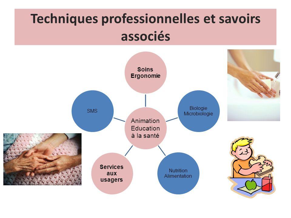 Techniques professionnelles et savoirs associés