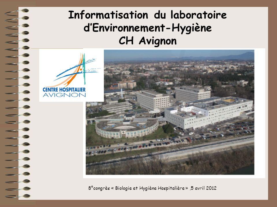 Informatisation du laboratoire d'Environnement-Hygiène