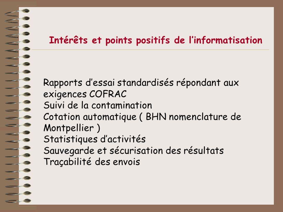 Intérêts et points positifs de l'informatisation