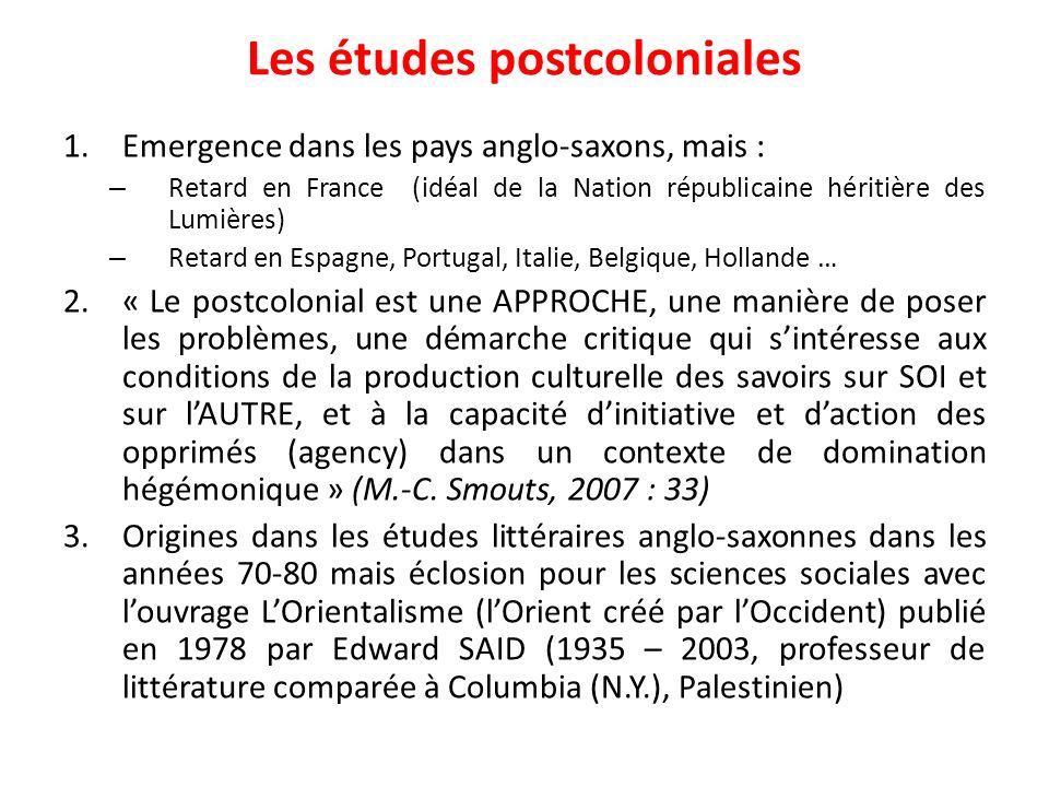 Les études postcoloniales