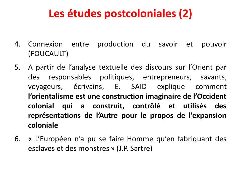 Les études postcoloniales (2)