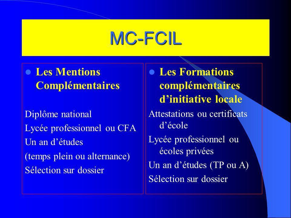 MC-FCIL Les Mentions Complémentaires