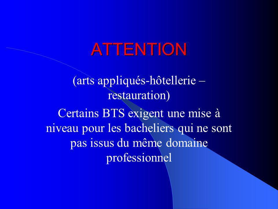 (arts appliqués-hôtellerie –restauration)