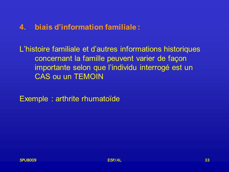 biais d'information familiale :