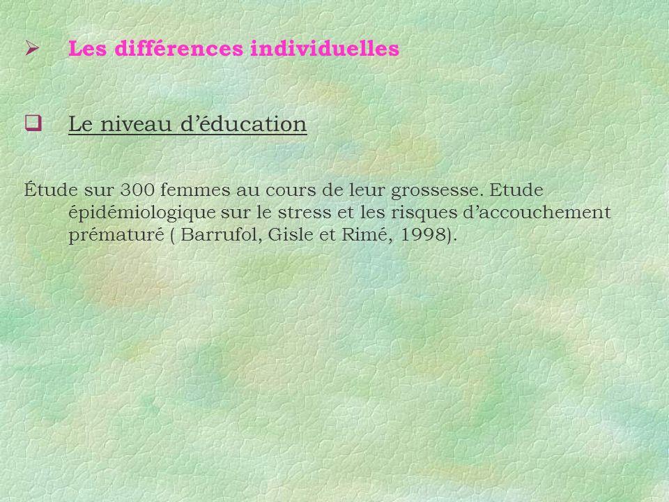Les différences individuelles