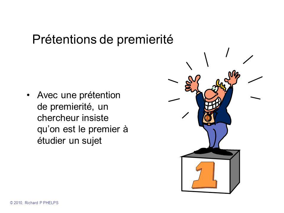 Prétentions de premierité