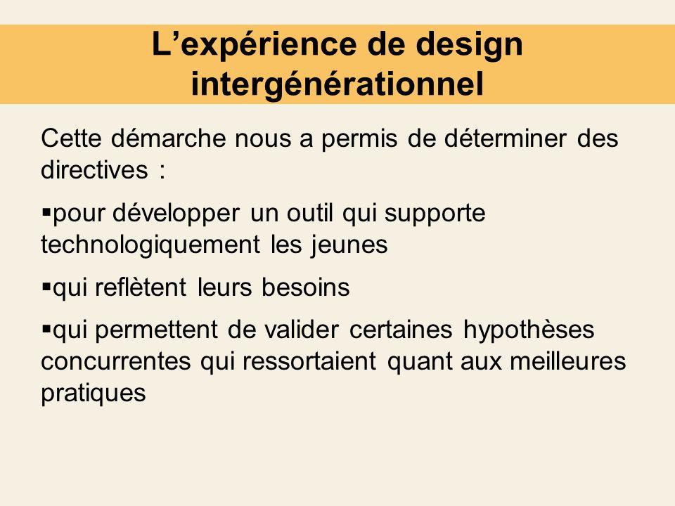 L'expérience de design intergénérationnel