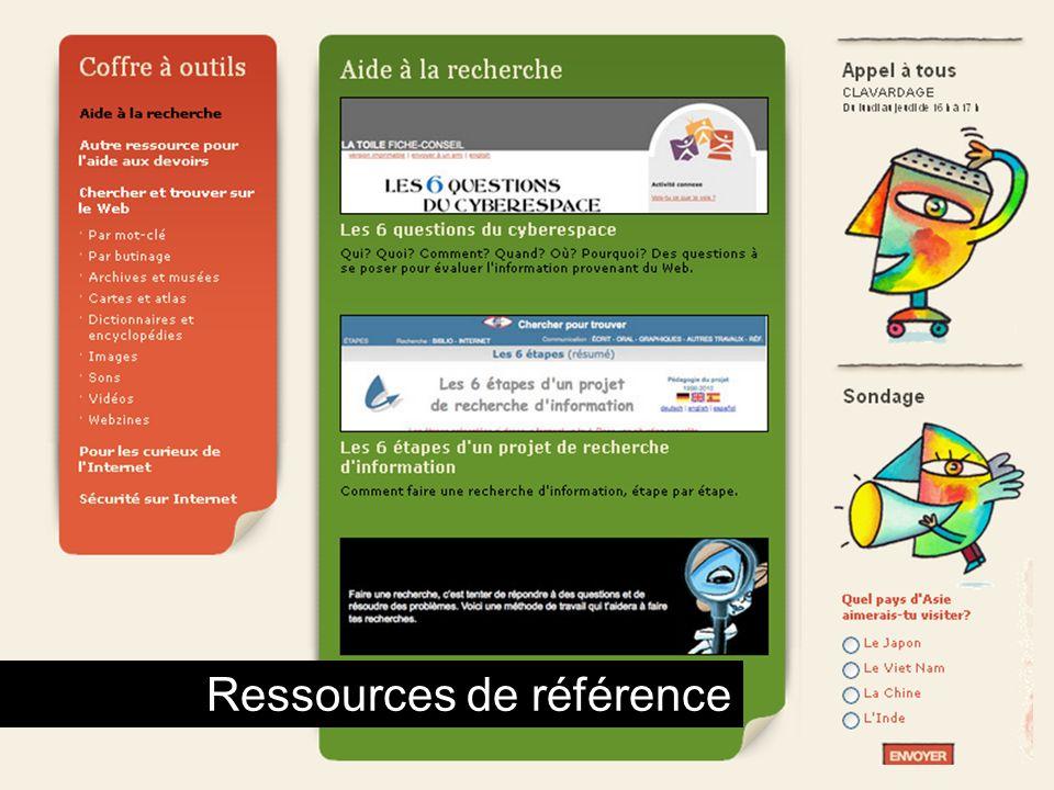 Coffre à outils Ressources de référence