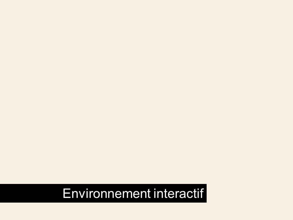 Environnement interactif
