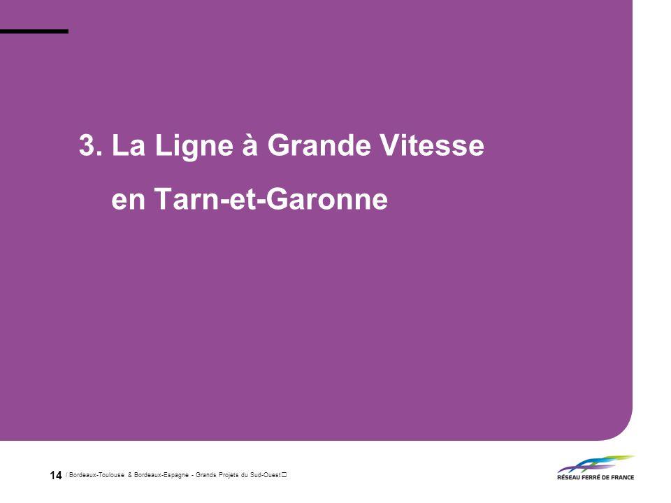 3. La Ligne à Grande Vitesse en Tarn-et-Garonne