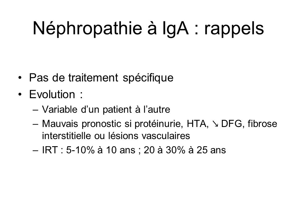 Néphropathie à IgA : rappels