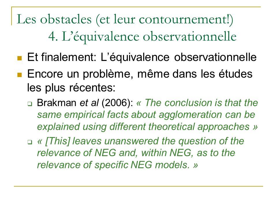 Les obstacles (et leur contournement. ). 4