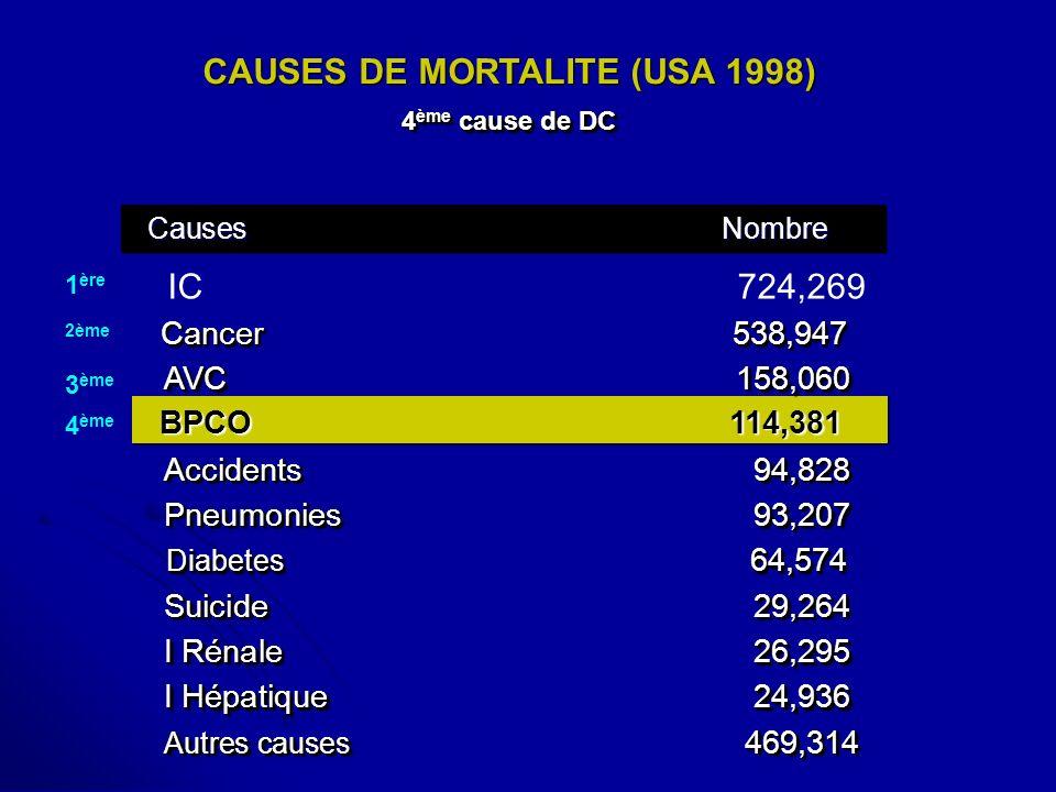 CAUSES DE MORTALITE (USA 1998)