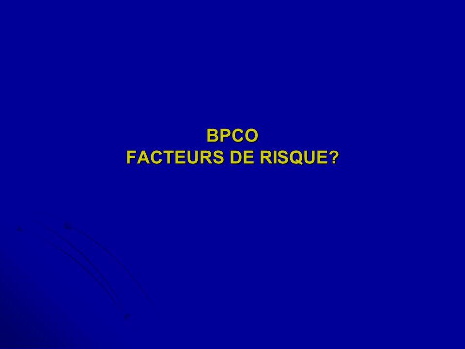 BPCO FACTEURS DE RISQUE