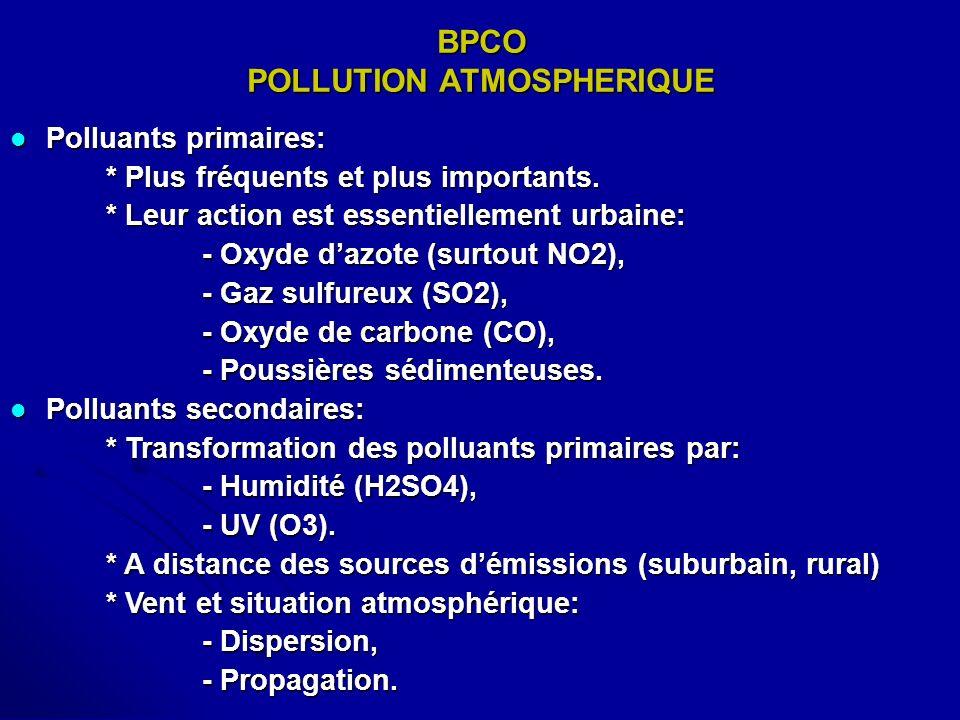BPCO POLLUTION ATMOSPHERIQUE
