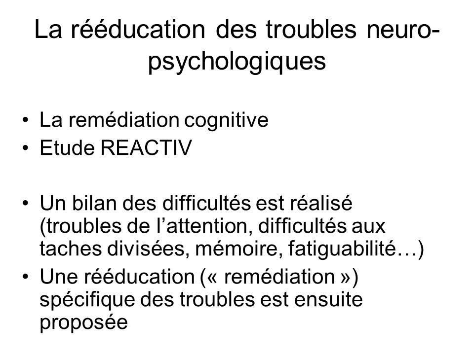 La rééducation des troubles neuro-psychologiques
