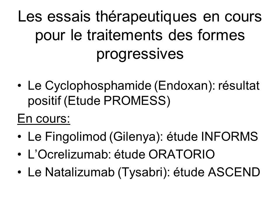 Les essais thérapeutiques en cours pour le traitements des formes progressives