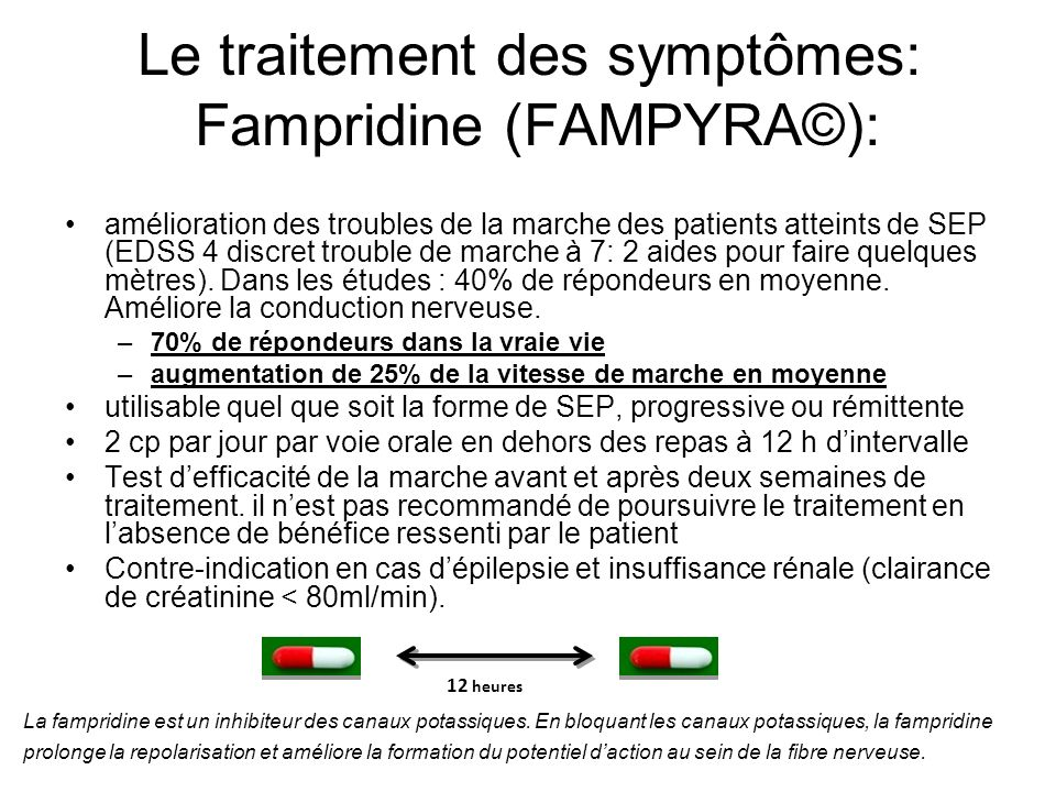 Le traitement des symptômes: Fampridine (FAMPYRA©):