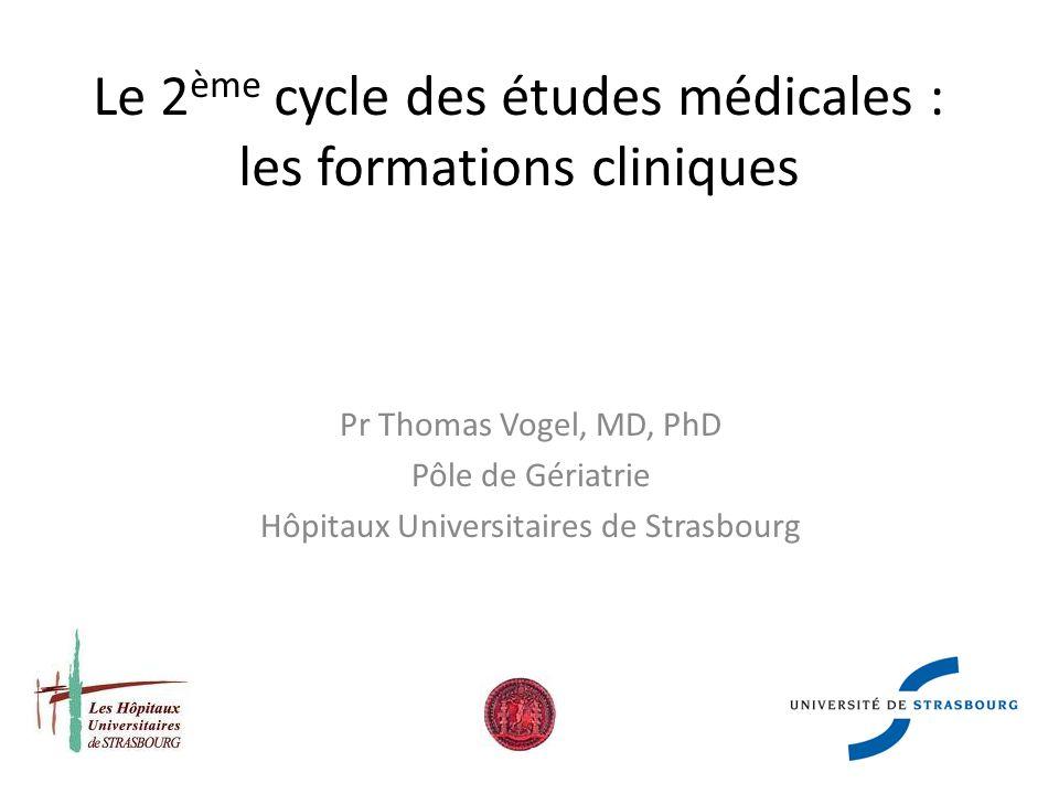 Le 2ème cycle des études médicales : les formations cliniques