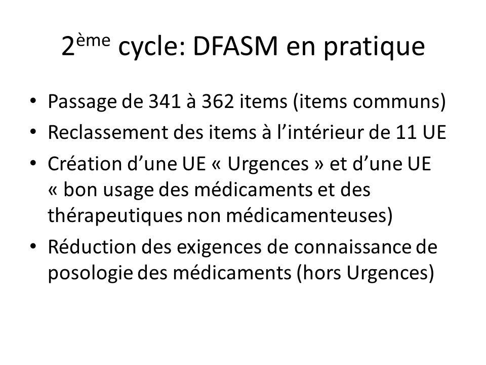 2ème cycle: DFASM en pratique
