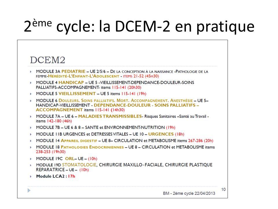 2ème cycle: la DCEM-2 en pratique