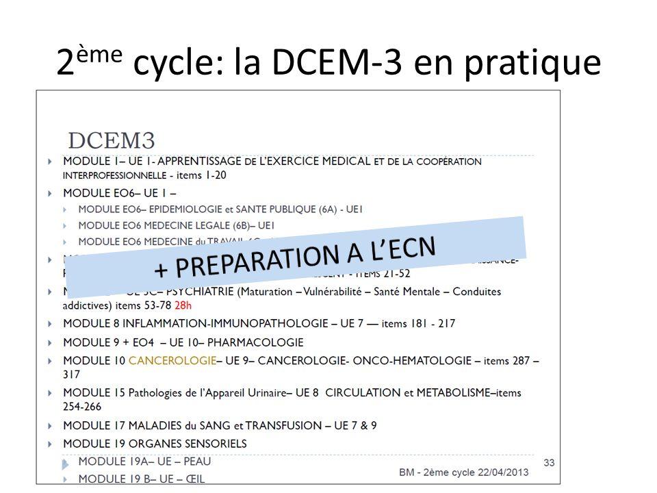 2ème cycle: la DCEM-3 en pratique