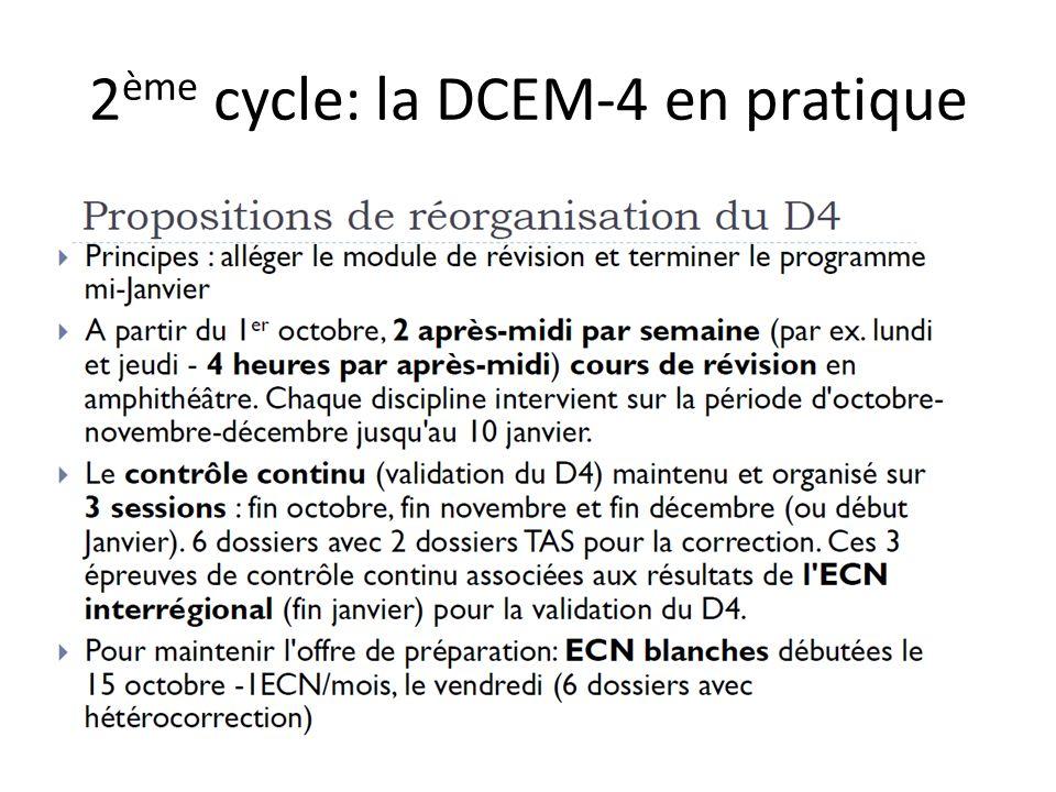 2ème cycle: la DCEM-4 en pratique
