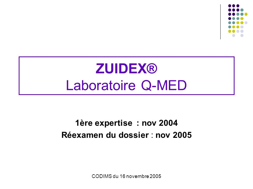 ZUIDEX® Laboratoire Q-MED