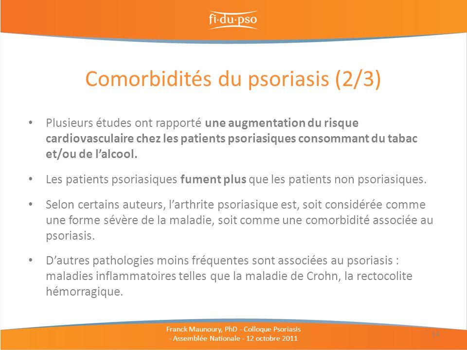 Comorbidités du psoriasis (2/3)