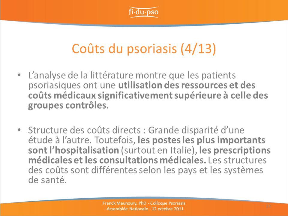 Coûts du psoriasis (4/13)