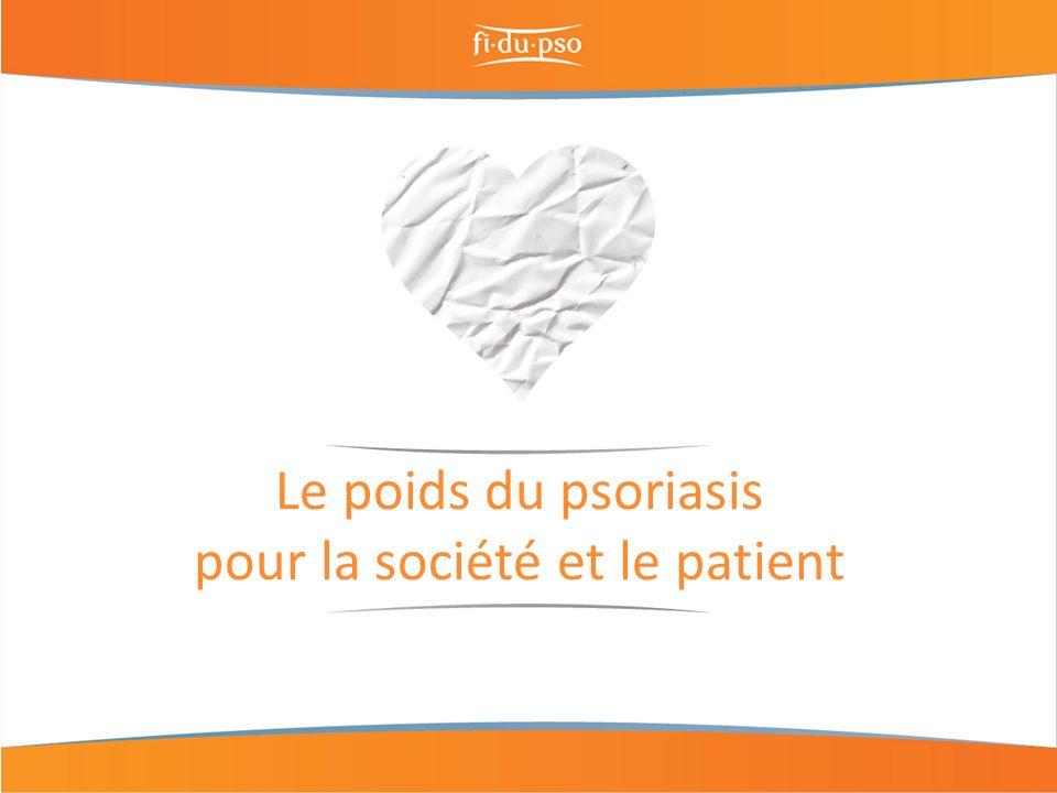 Le poids du psoriasis pour la société et le patient