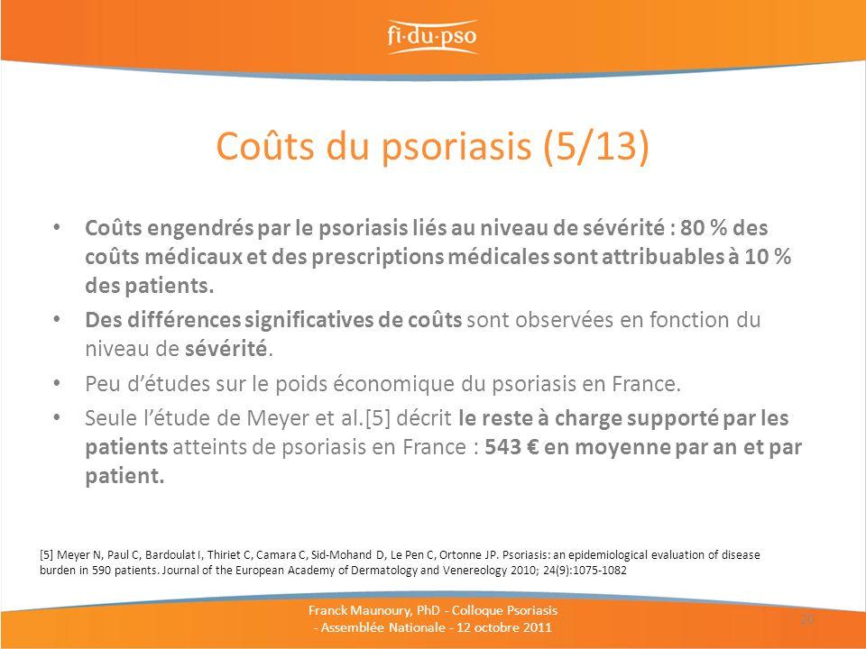 Coûts du psoriasis (5/13)