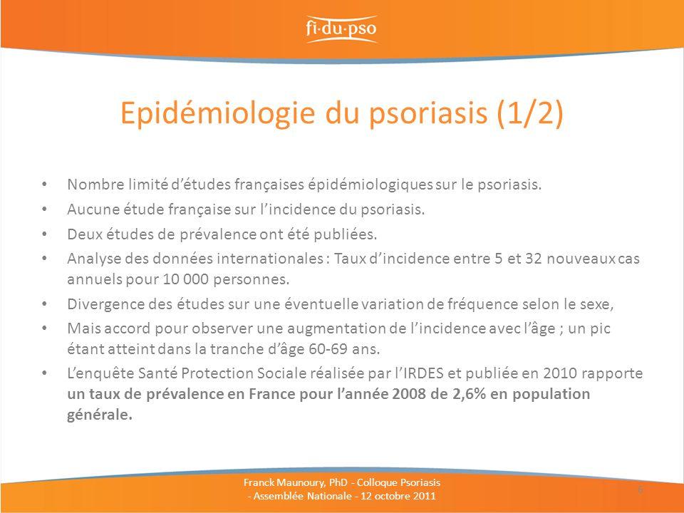 Epidémiologie du psoriasis (1/2)