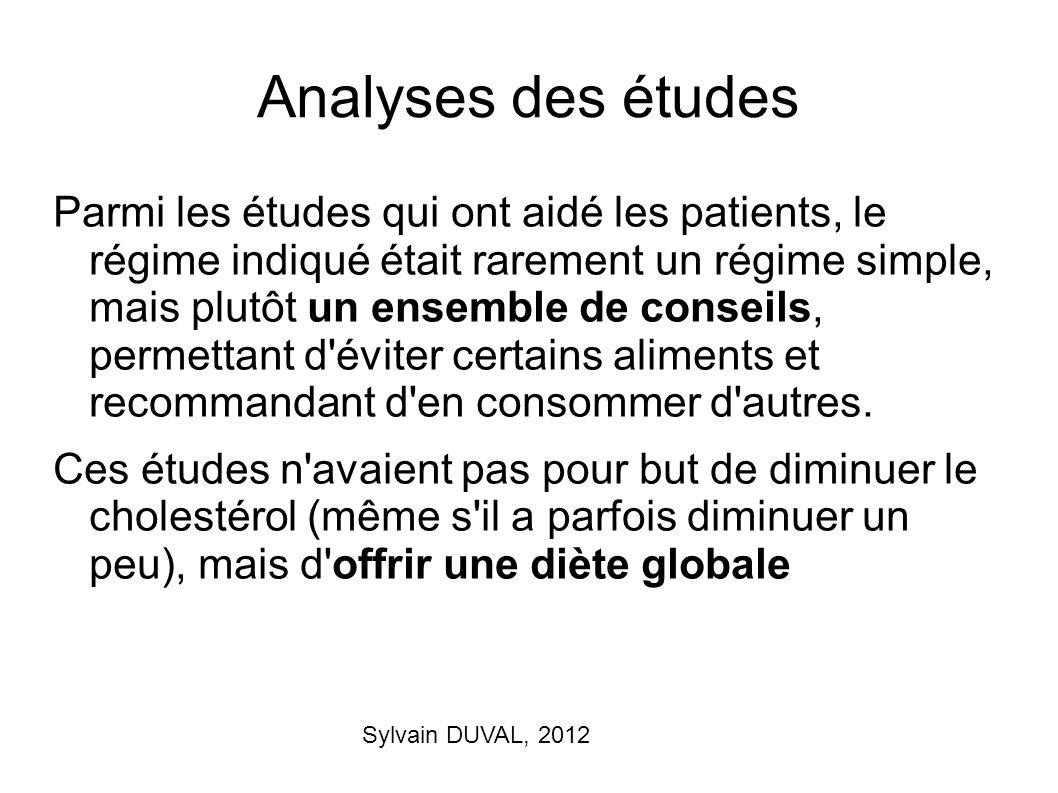 Analyses des études