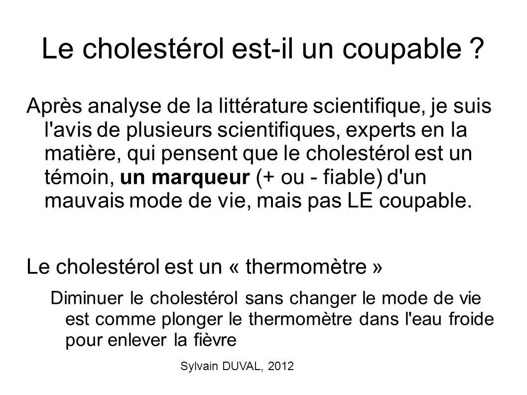 Le cholestérol est-il un coupable
