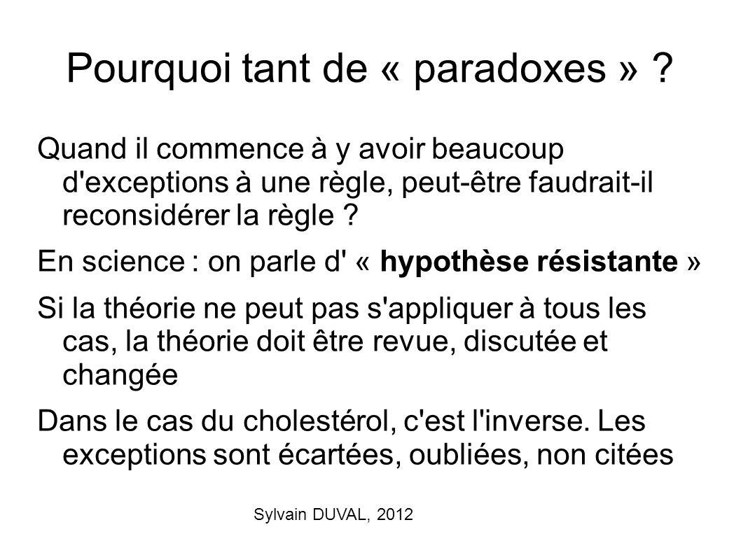 Pourquoi tant de « paradoxes »