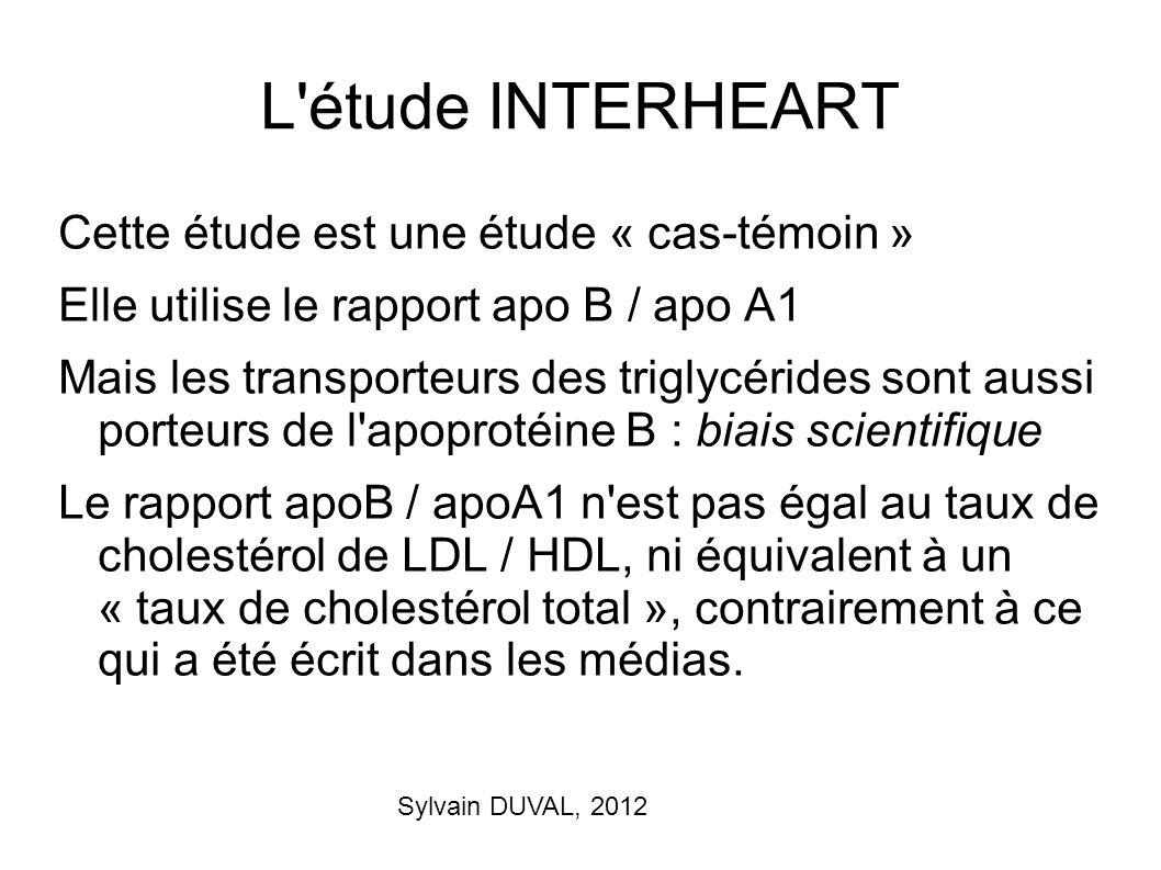 L étude INTERHEART Cette étude est une étude « cas-témoin »