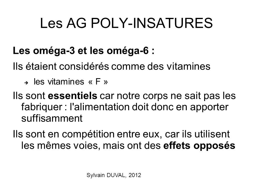 Les AG POLY-INSATURES Les oméga-3 et les oméga-6 :