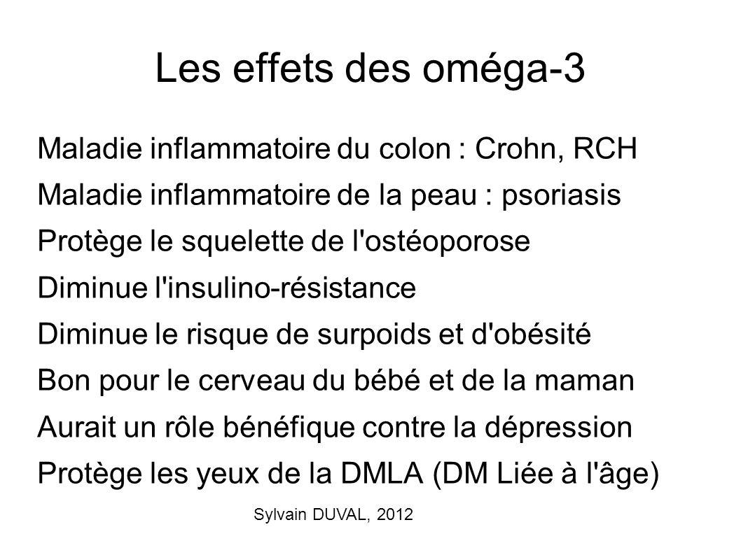 Les effets des oméga-3 Maladie inflammatoire du colon : Crohn, RCH