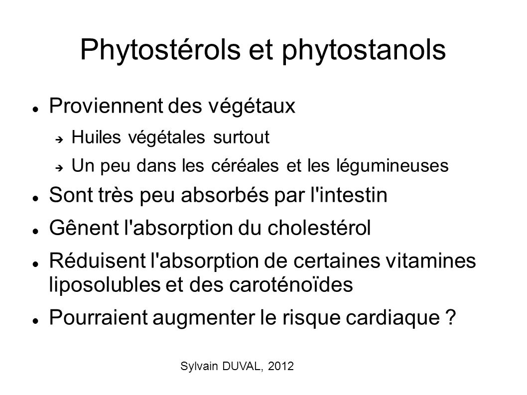 Phytostérols et phytostanols