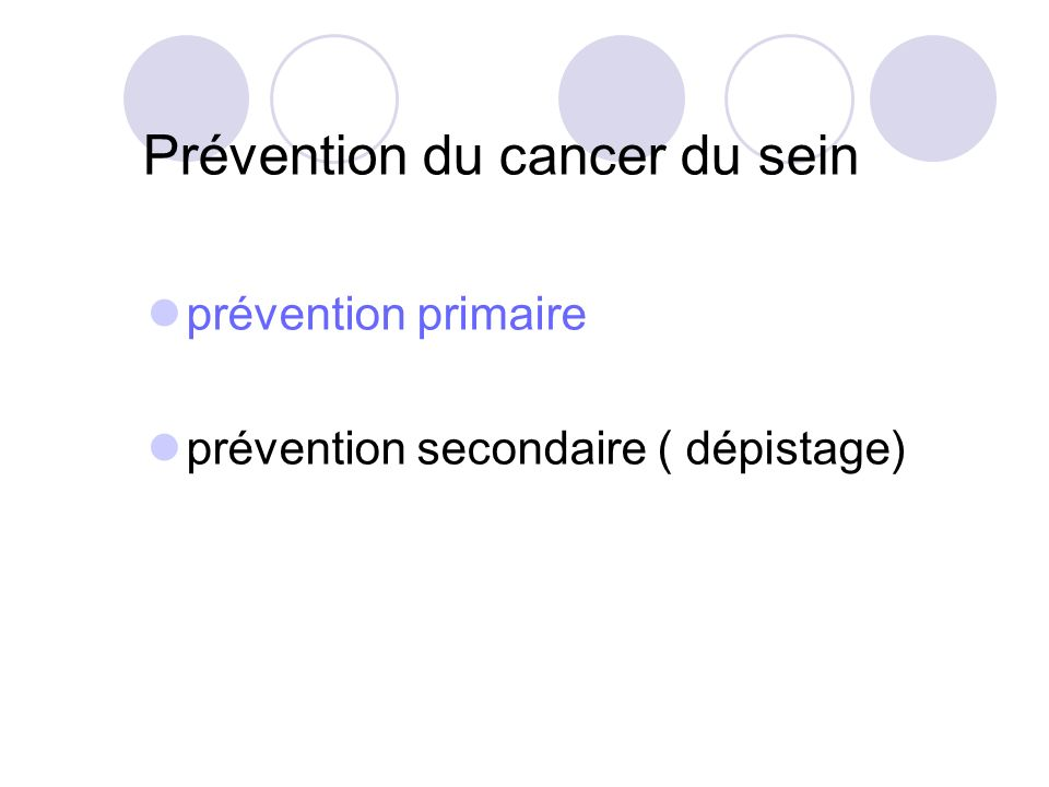 Prévention du cancer du sein